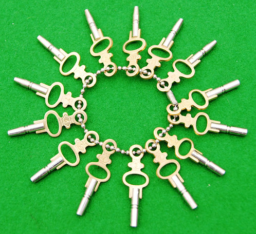 Set of 14 pocket watch keys