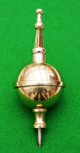 Brass ball and spire finial