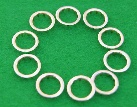 Pack of 10 brass grommets 10mm