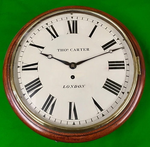 "Antique fusee Dial clock signed 'Thomas Carter"" London"