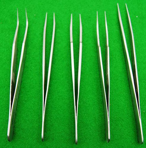 Set of 5 Non magnetic tweezers