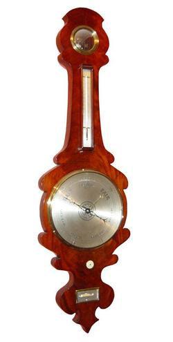 A Cortti, Glasgow, Mahogany Banjo Style Barometer (Circa 1840)