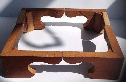 Set of Mahogany bracket shaped Longcase feet