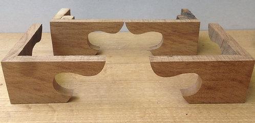 Set of Oak bracket shaped Longcase feet