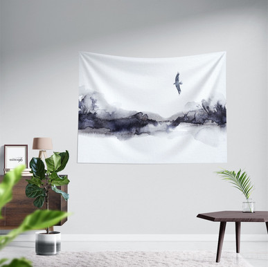 Fabric poster Tapestry bird