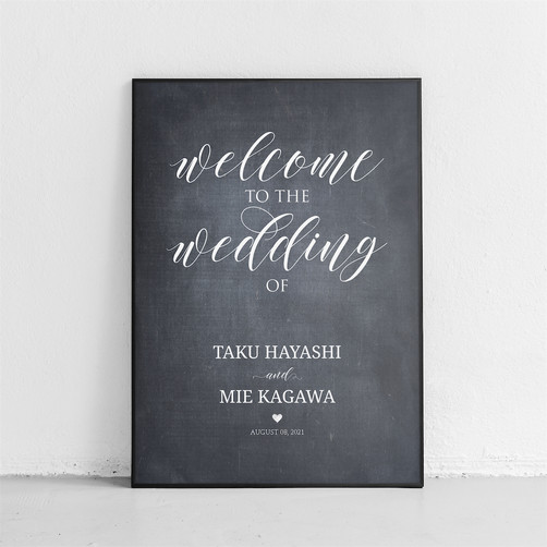 Wedding Welcomeboard CHALKBOARD