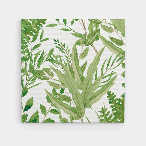Canvas art botanical green