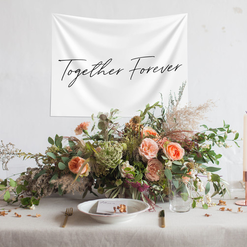 Together Forever Tapestry Fabric poster