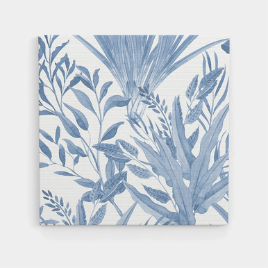 Canvas art botanical Blue leaf