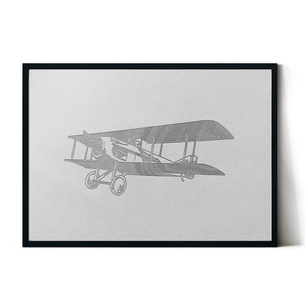 art poster airplane design