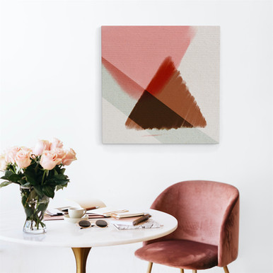 Canvas art abstract triangle