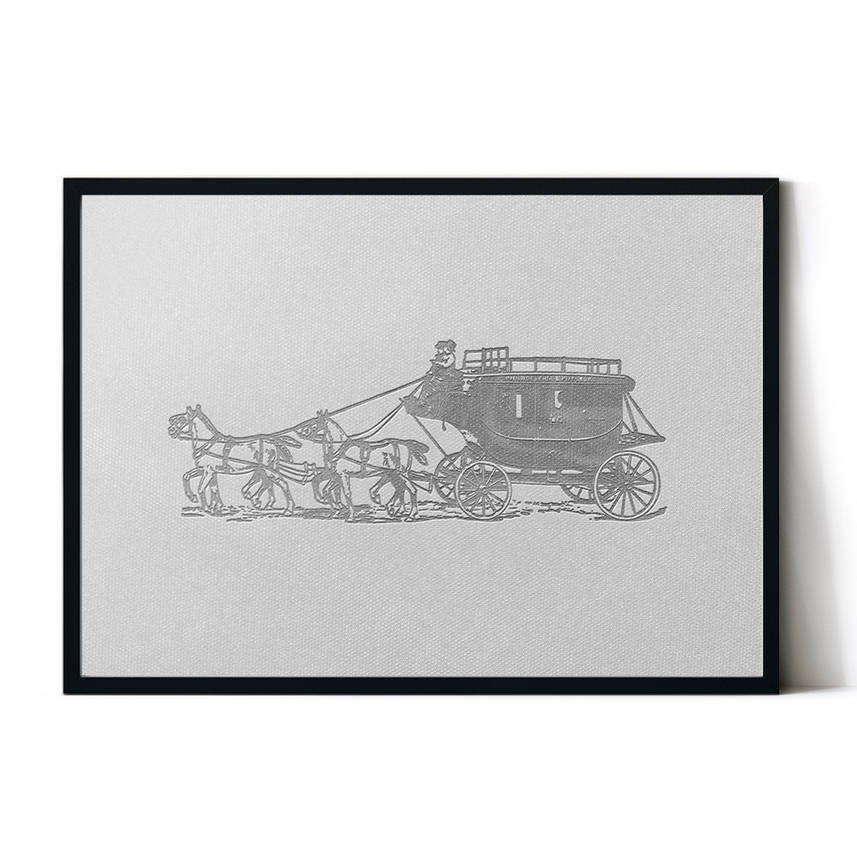 art poster carriage design