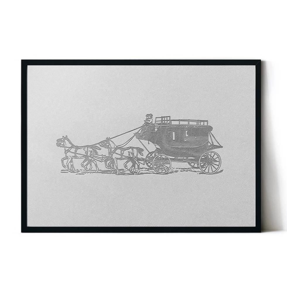 art poster carriage design