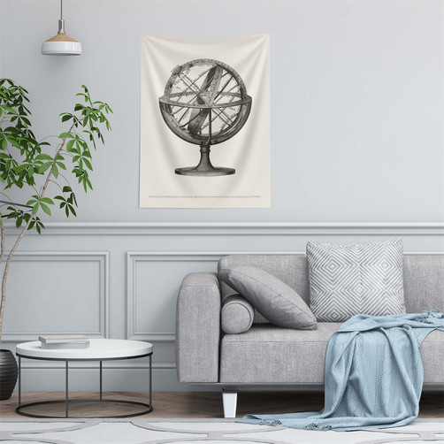 Fabric poster Tapestry earth globe