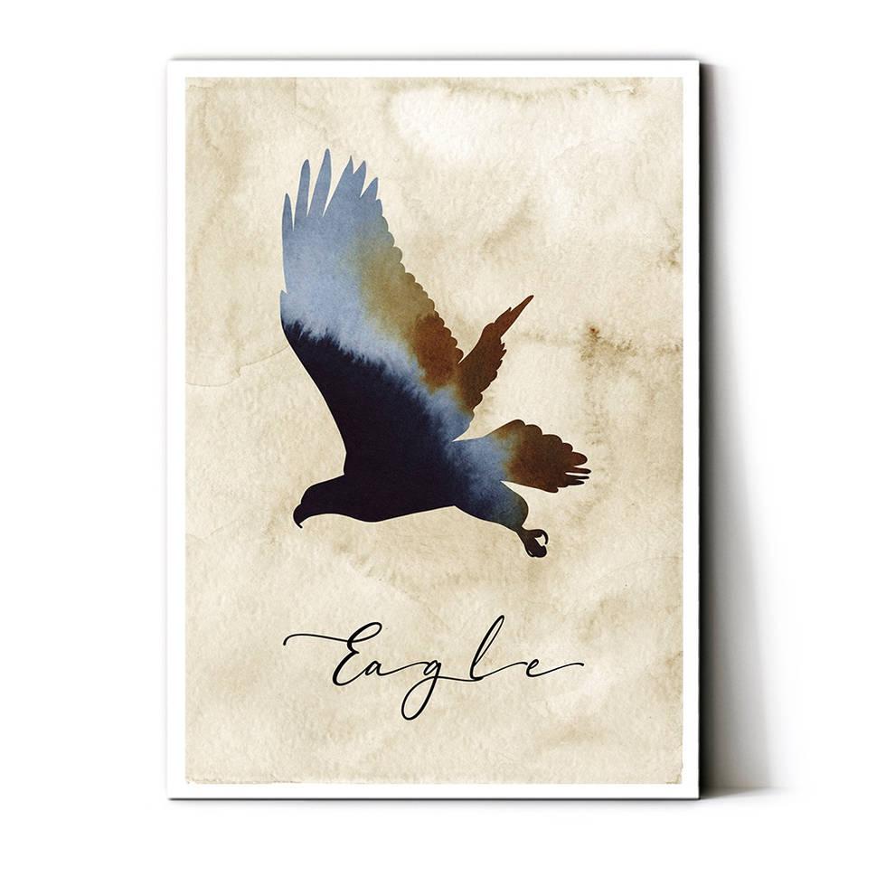 art poster eagle design