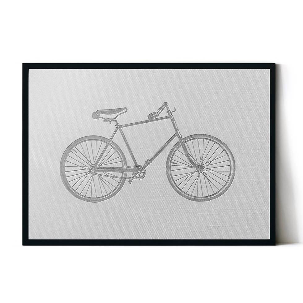 art poster bicycle design