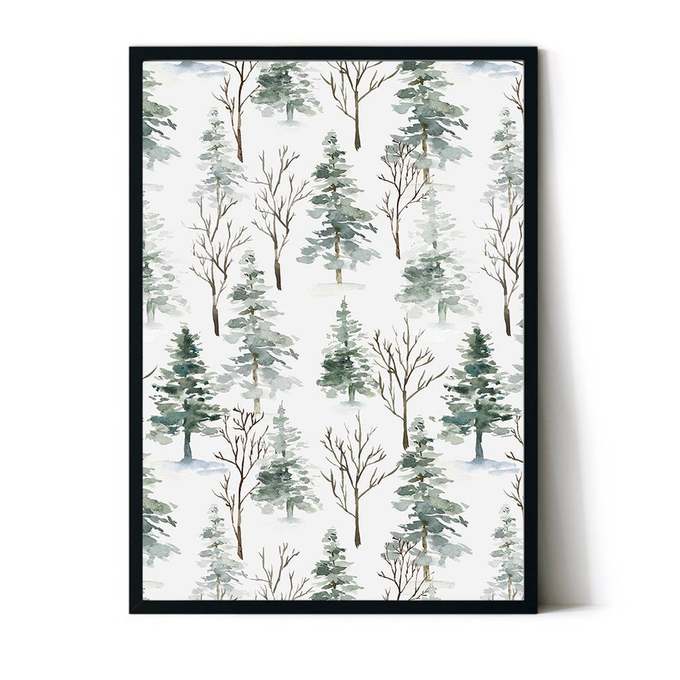 art poster forest design