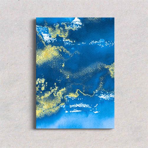 Canvas art Royal Blue
