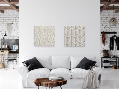 Canvas art geometric NY