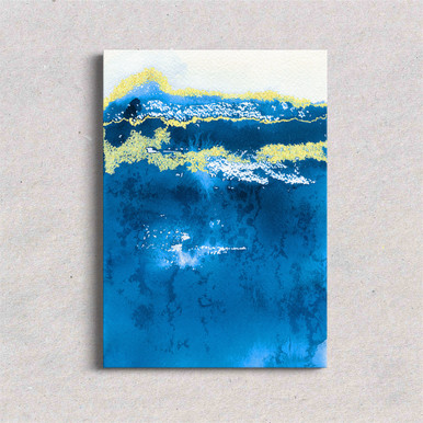 Canvas art navy abstract