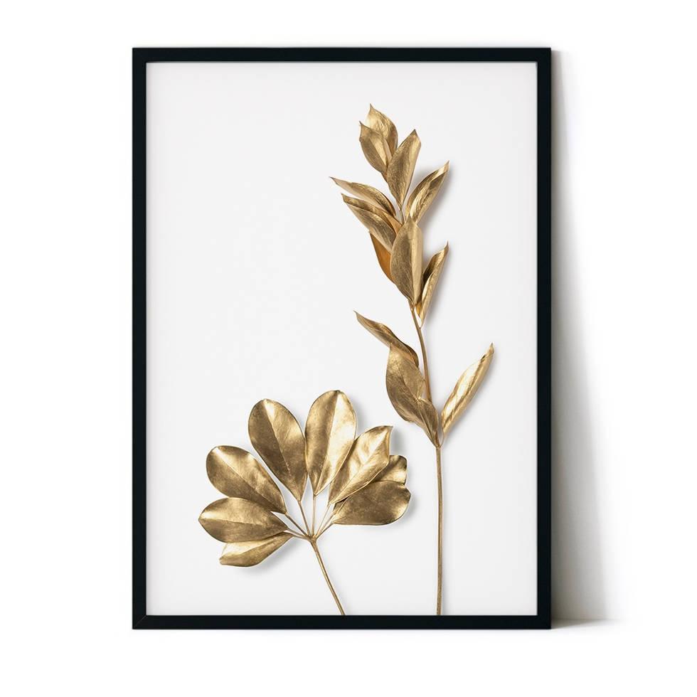 art poster gold leaf design