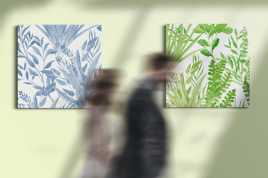 Canvas art botanical Blue