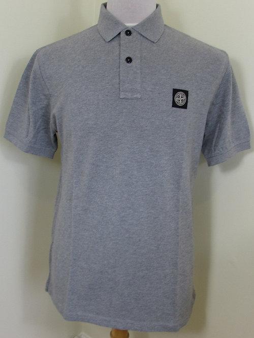 101522C15 Stone Island Short Sleeve Polo Shirt in Grey (V1064)