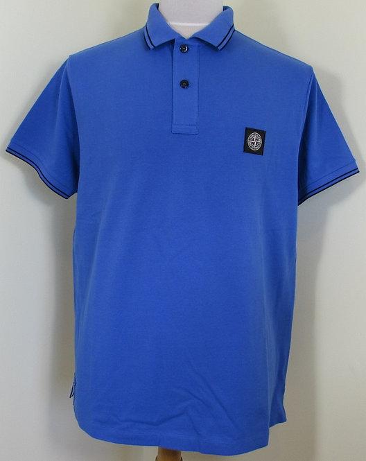 101522S18 Stone Island Short Sleeved Polo Shirt in Blue (V0043)