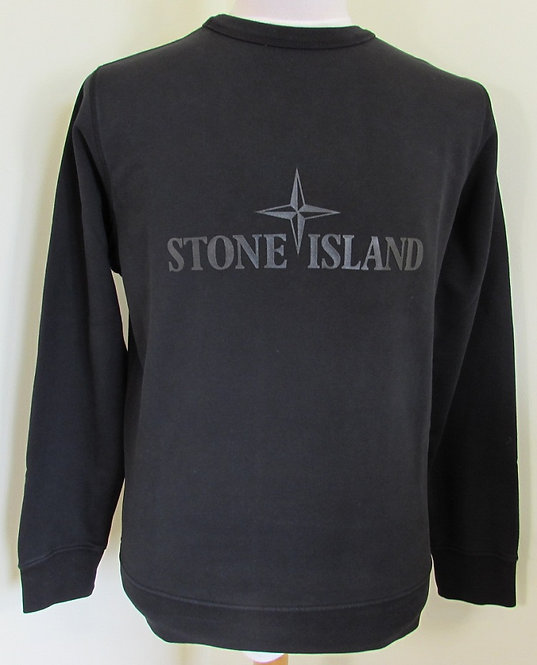 701560151 Stone Island 'Double Front' Sweatshirt in Black (V0029)