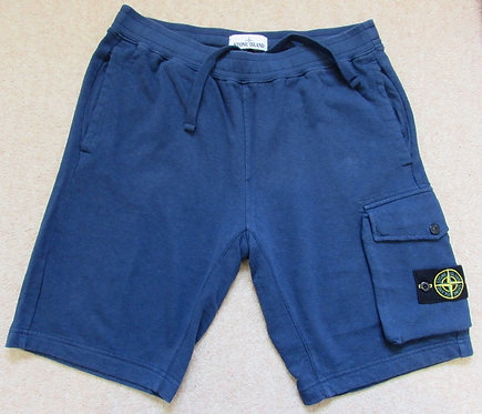 701565860 Stone Island Cargo Sweat Shorts in Marine Blue (V0028)