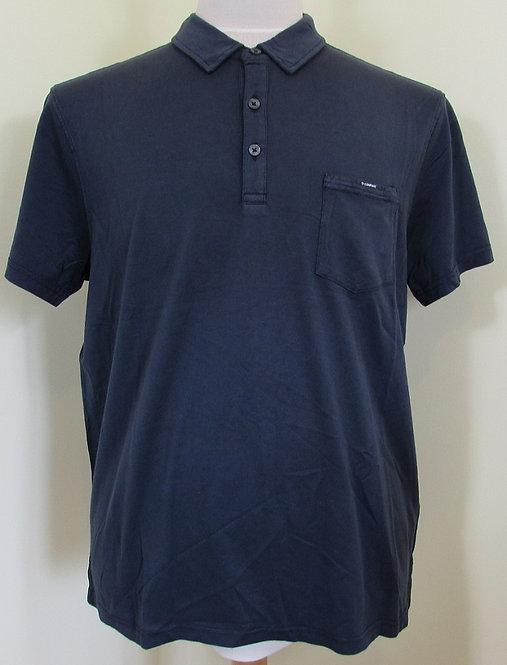 06CMPL036A C.P. Company 'Mako Jersey Cotton' Polo Shirt in Navy (888)
