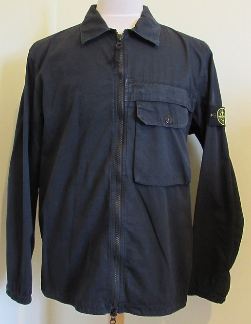 7315107WN Stone Island Old Effect Overshirt in Navy (V0120)