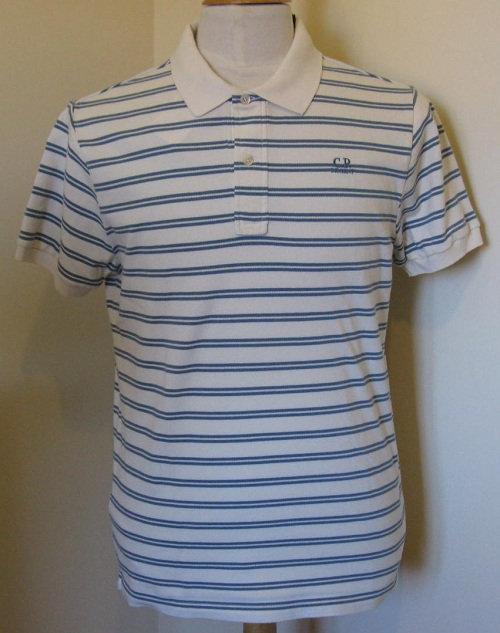 11WM54022 C.P. Company Polo Shirt in White/Green stripes (CZ)