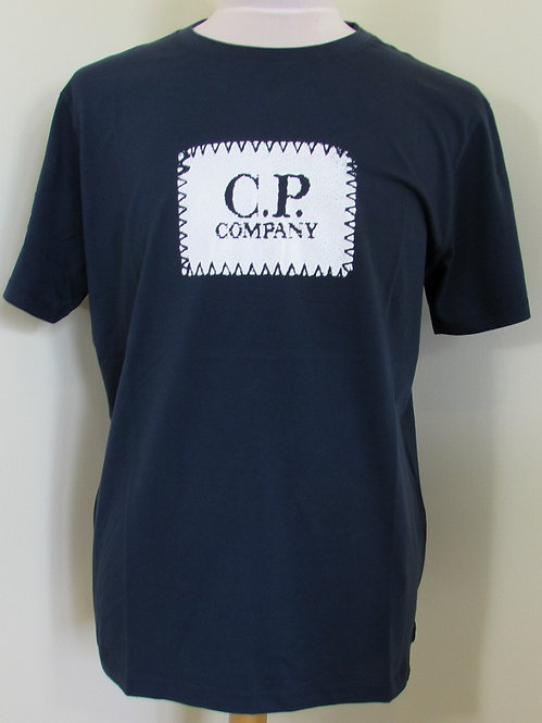 06CMTS042A C.P. Company Short Sleeve Tee Shirt in Dark Navy (888)