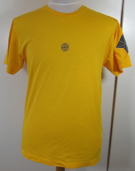 68152NS90 Stone Island Round Neck Tee Shirt in Yellow (V0030)