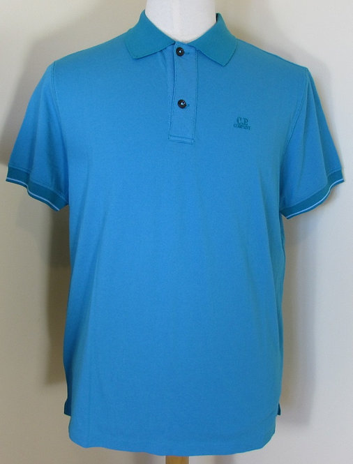 CPUT02464 C.P. Company Short Sleeve Polo Shirt in Teal (829)