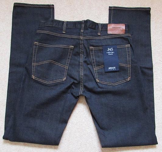 6Y6J45 6D2TZ J45 Armani Jeans Slim Fit in Dark Denim (Denim) - Contrast Stitch