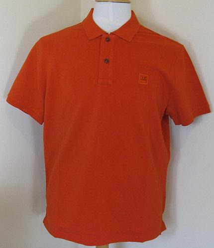 14CCPUT02008 C.P. Company Polo Shirt in Orange (460)