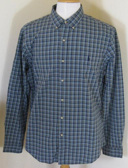 Ralph Lauren Long Sleeved Shirt in Navy/Green (FL-69B)