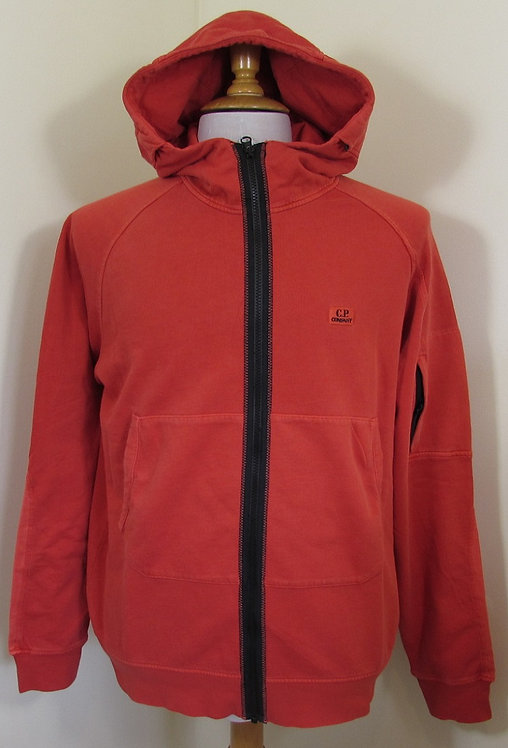 06CMS233A C.P. Company Hooded Full Zip in High Risk Red (547)