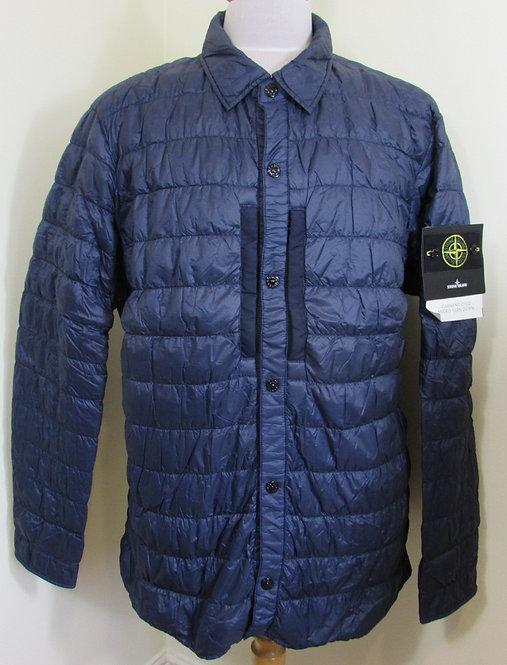 6715Q0124 Stone Island 'Garment Dyed Micro Yarn Down' Jacket/Overshirt in Blue