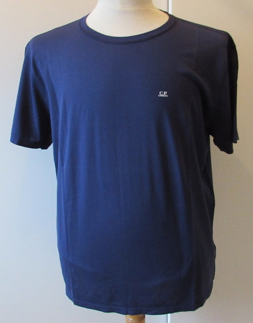 03CMTS156A C.P. Company 'Mako Cotton' Tee Shirt in Navy (878)