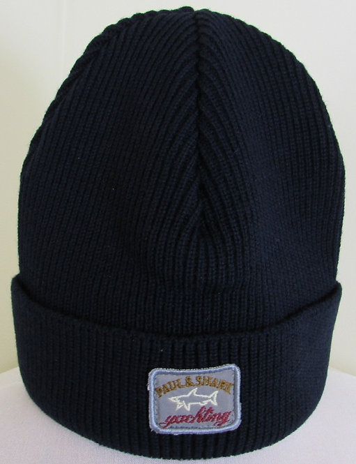 I19P7138 Paul & Shark Woolly Hat in Navy (050)