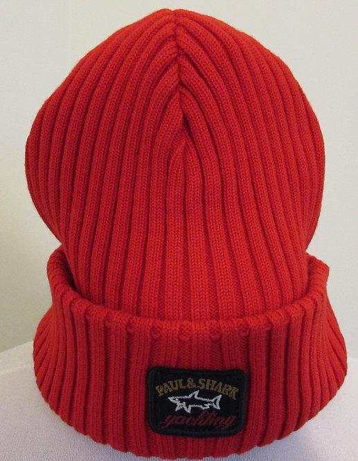 C0P1051 Paul & Shark Woolly Hat in Red (577)