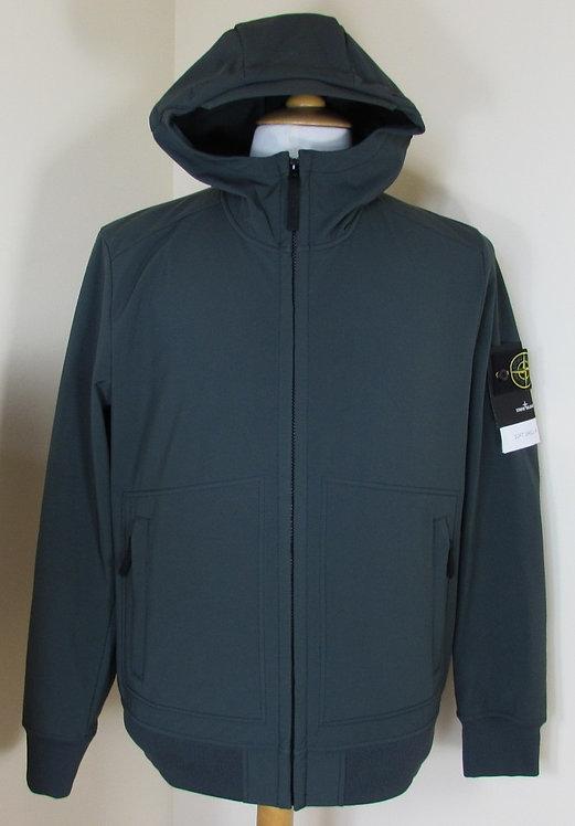 6515Q0422 Stone Island 'Soft Shell-R' Hooded Jacket in Petrol Green (V0057)