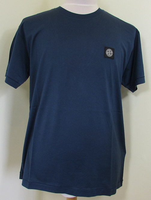 721524113 Stone Island Round Neck Tee Shirt in Marine Blue (V0028)