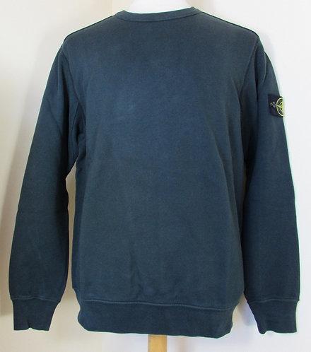 671562720 Stone Island Round Neck Sweatshirt in Dark Blue (V0028)