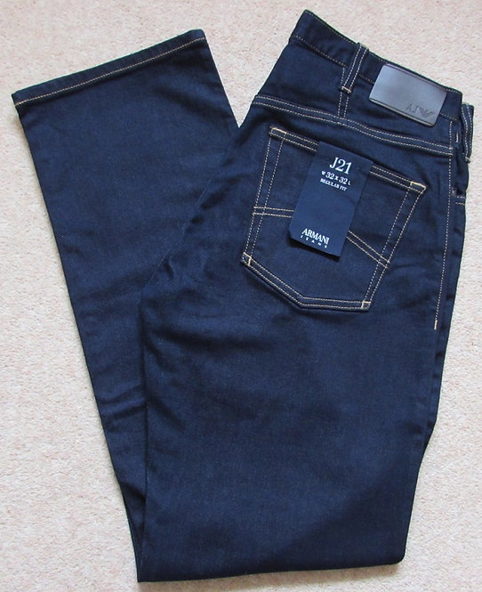 8N6J21 6DCGZ J21 Armani Jeans Regular Fit in Dark Denim - Denim Indaco (1500)