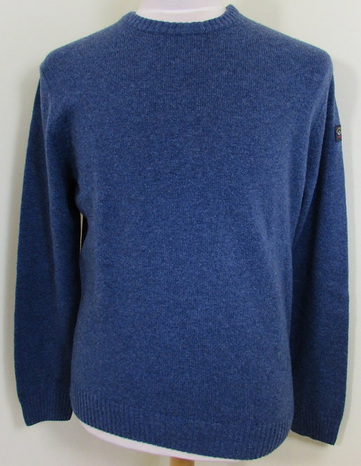 C0P1061 Paul & Shark 'Colours of Shetland' Round Neck Knit in Blue (740)
