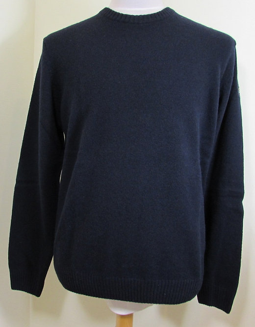 C0P1061 Paul & Shark 'Colours of Shetland' Round Neck Knit in Navy (752)